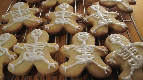 Skeleton iced cookies