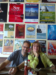 Marc and Sue Orchant at breakfast