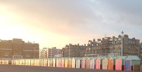 Beach Huts in the Sun