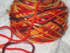 Cold-Pour Kool-Aid dyed yarn