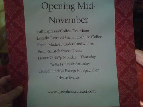 Greenhouse Coffee Coming Soon