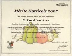 Mérite Horticole 2007