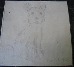 Little dog drawing.