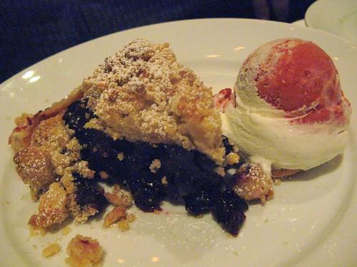 Blueberry Pie with Raspberry Creamsicle Ice Cream