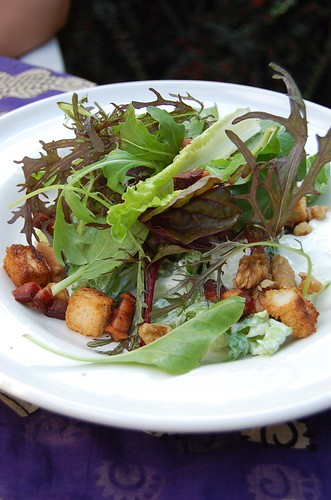 Blue Cheese, Bacon and Walnut salad