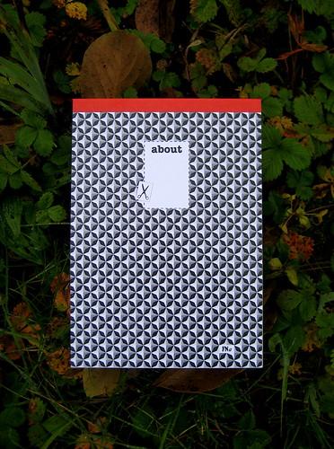about, a cura di Federico Novaro, progetto grafico di Stefano Olivari, packaging di Cristina Balbiano d'Aramengo, blocknotes, 18 p. ill. col (part)