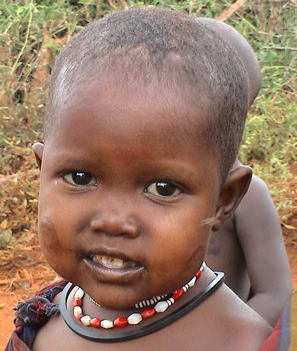 Smiling maasai child