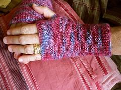 Hostess wearing gloves
