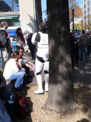 Stormtrooper, taking a smoke-break