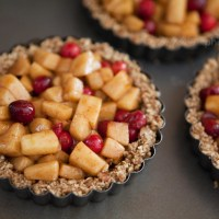 Apple Cranberry Caramel Tarts
