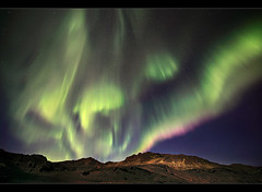 Electric Atmosphere - Aurora at Kleifarvatn, Iceland by orvaratli