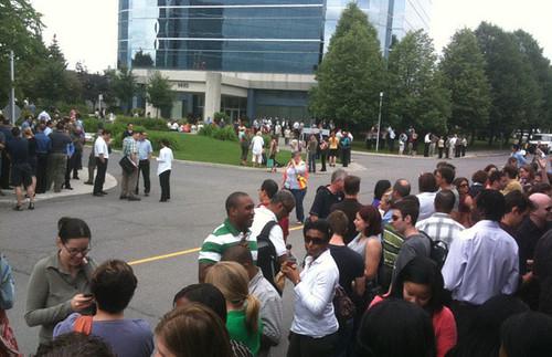 evac at work - earthquake - 23 June 2010