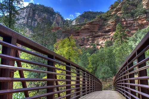 Footbridge to West Fork
