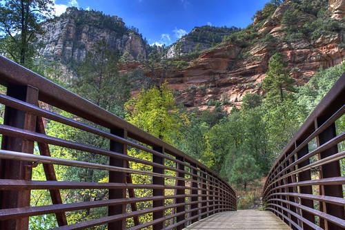 Footbridge to West Fork