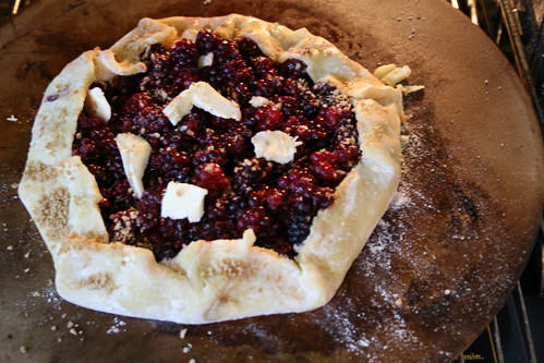 olallieberry and boysenberry galette