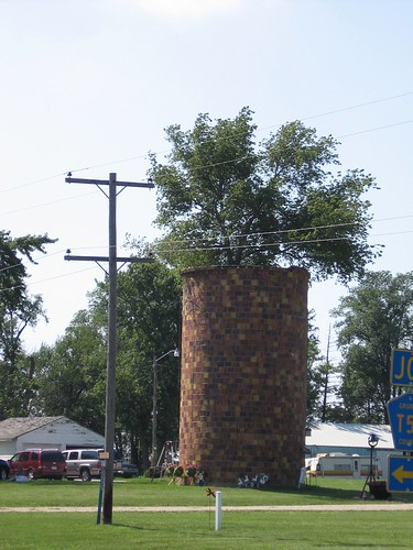 silo with tree in center