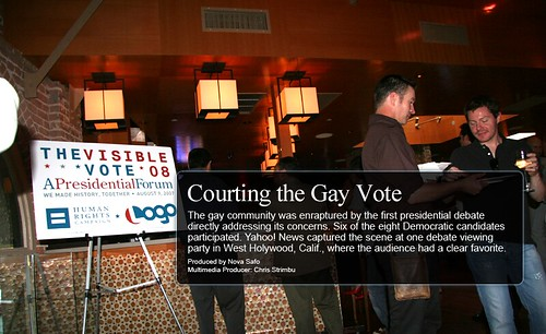 Courting the Gay Vote - A Yahoo! News Interactive
