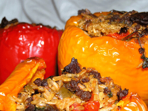 Colored stuffed peppers