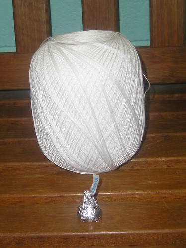 Somewhat smaller ball o' crochet cotton