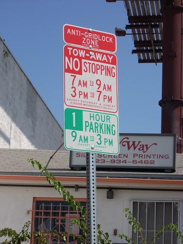 anti-gridlock zone