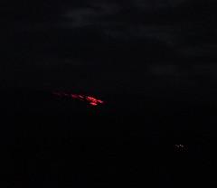Lava from 5 miles away on Mt. Kilauea - Big Island