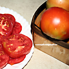 Red ripe tomatoes by Lubrico