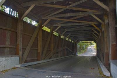 Glen Hope Covered Bridge (1889) - Looking South