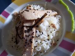 arroz, ventresca y wasabi