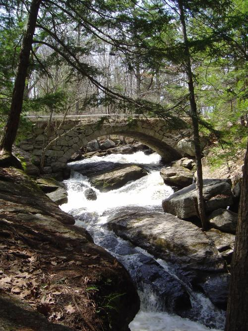 Stone bridge at Gleason Falls