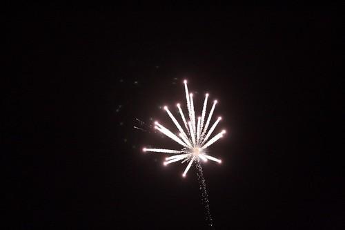 fireworks after a touchdown