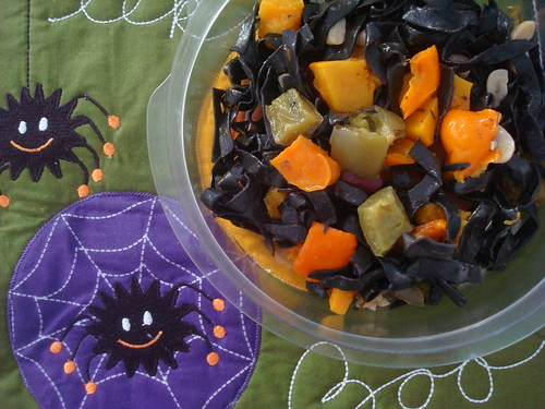 Black and Orange Halloween Pasta