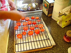 Salting the tomatoes