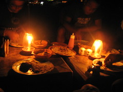 night dinner at calangute beach