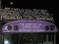 9 to 5 Bicycle Scavenger Hunt: Religious Bus