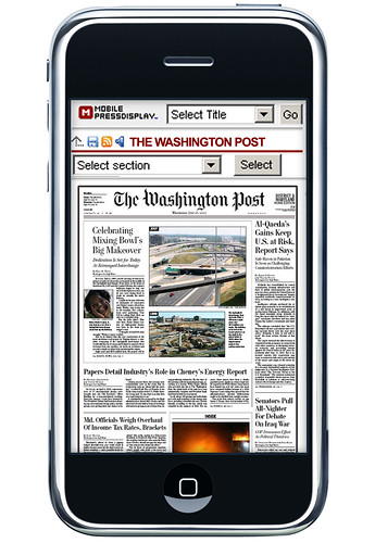 PressDisplay in iPhone
