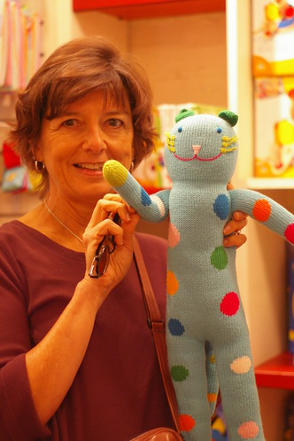 Mom with knitted cat