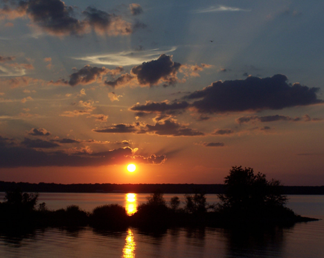 Sunset at Rend Lake