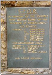 Vindolanda memorial tablet. Copyright A Hamnett