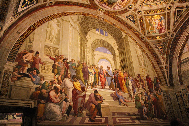 School of Athens by Raphael - the Vatican Museum