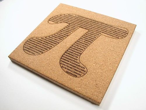 Evil Mad Scientist Pi Cork Trivet