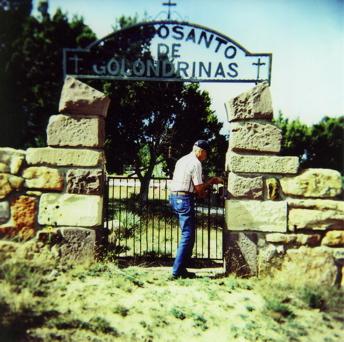 grandpa at grave gate new mexic