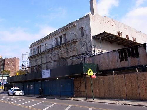 Bank of Coney Island Demolition Scaffolding. October 25, 2010. Photo © Bruce Handy/Pablo 57 via flickr