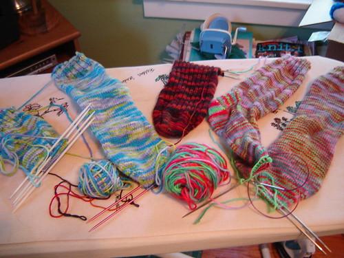 mess of socks