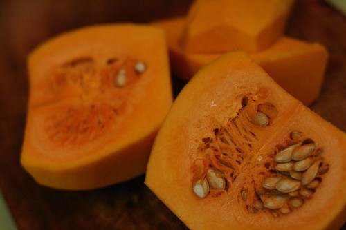 Seeds of the butternut squash