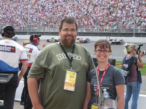 Jason and me at the Nascar Race