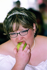 Bride Eats Centerpiece