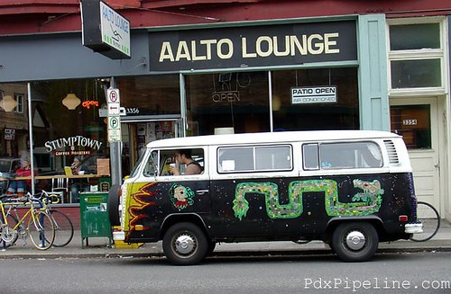 Got my Coffee, Stumptown Coffee,Aalto Lounge,  Se Belmont, Portland, Oregon, 97204