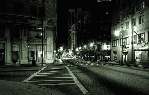 Empty Atlanta Streets