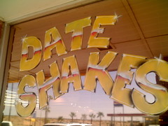 World famous date shakes, yum