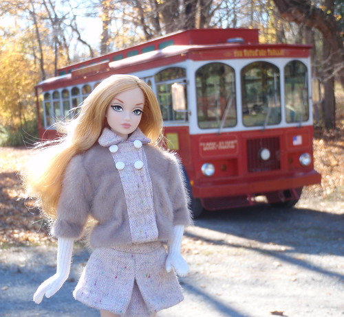 Amelie at the Water Gap Trolley Stop